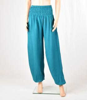 Pantalon Smock turquoise
