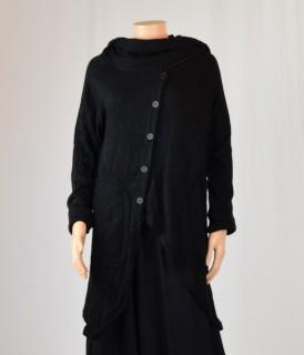 Gilet écharpe noir