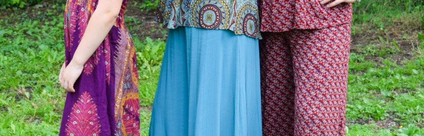 Gamme complète de vêtements dames aux couleurs ensoleillées